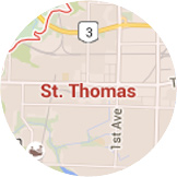 Map St. Thomas